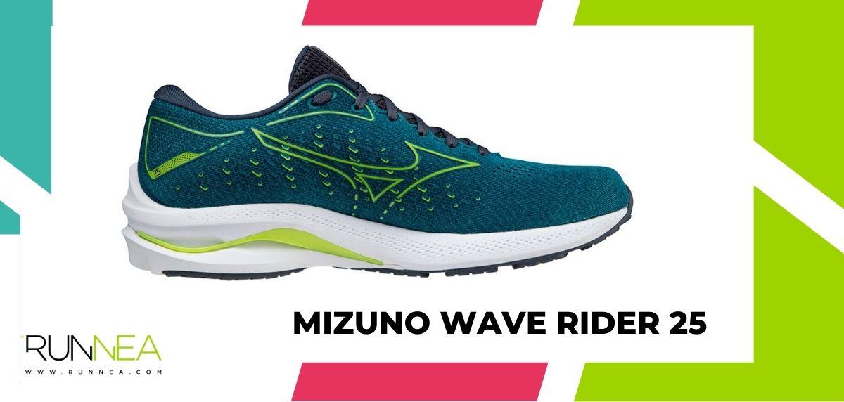 Mejores zapatillas running tope de amortiguación 2021, Mizuno Wave Rider 25