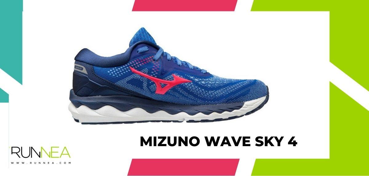Mejores zapatillas running tope de amortiguación 2021, Mizuno Wave Sky 4