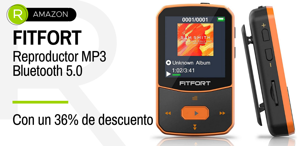 Ofertas de última hora Prime Day 2021 - electrónica: FITFORT reproductor MP3 Bluetooth 5.0