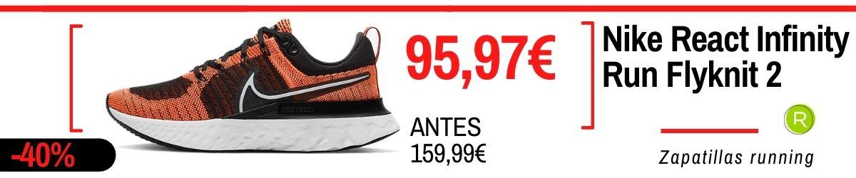 Rebajas de verano Nike 2021: los mejores chollos en zapatillas, Nike React Infinity Run Flyknit 2