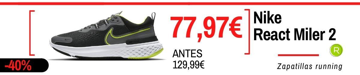 Rebajas de verano Nike 2021: los mejores chollos en zapatillas, Nike React Miler 2
