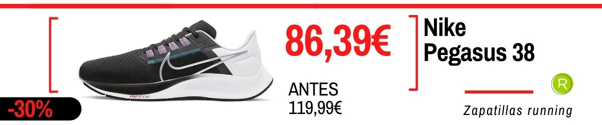 Rebajas running verano 2021, Nike Pegasus 38