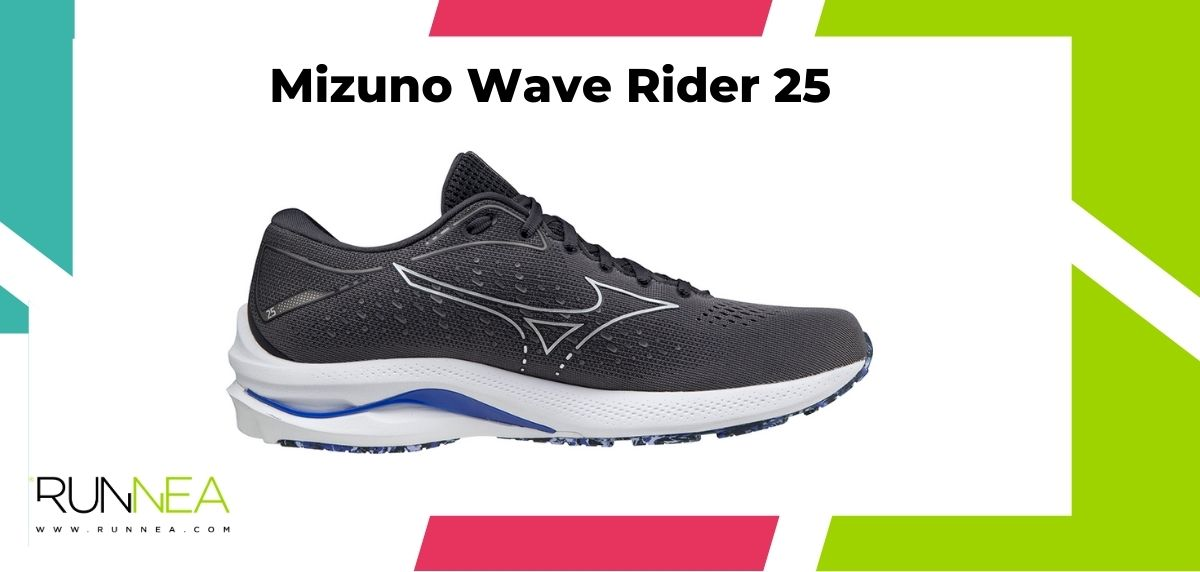 Zapatillas de running para más de 100 kilos, Mizuno Wave Rider 25
