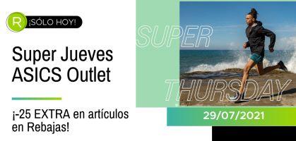 Super Jueves en ASICS Outlet: ¡-25% EXTRA en artículos en rebajas SÓLO HOY!
