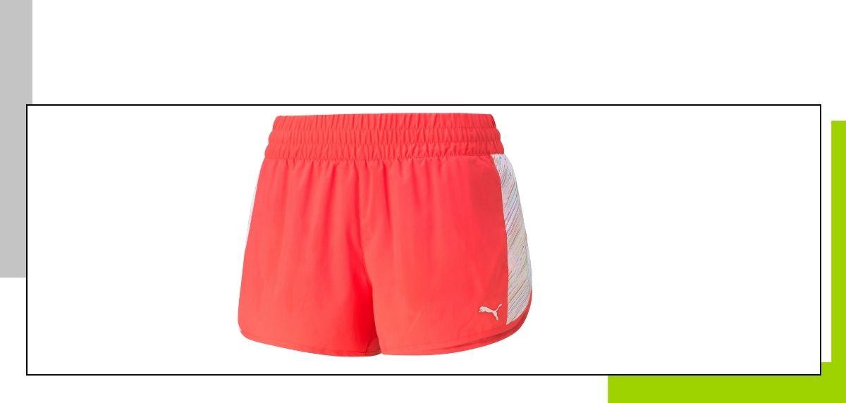 Outfit running mujer: los mejores conjuntos para correr este verano de Puma, Shorts con estampado gráfico