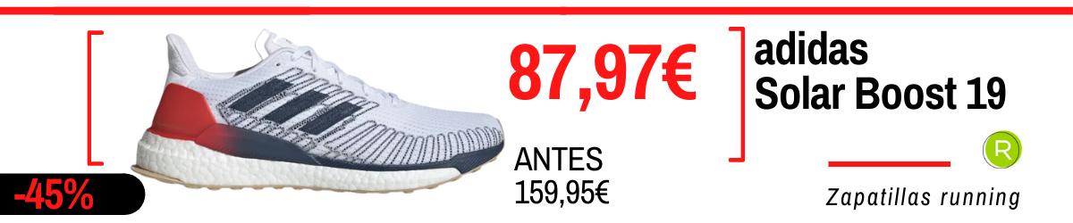 Rebajas de verano adidas en zapatillas running - adidas Solarboost 19