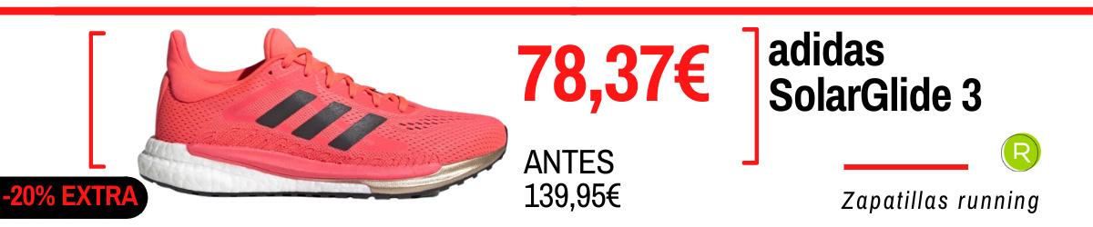 Rebajas de verano adidas en zapatillas running - adidas SolarGlide 3