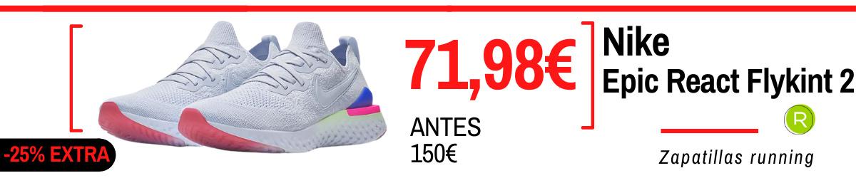 Rebajas de verano 2021 en zapatillas running - Nike Epic React Flyknit 2