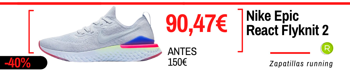Rebajas de verano Nike en zapatillas running - Nike Epic React Flyknit 2