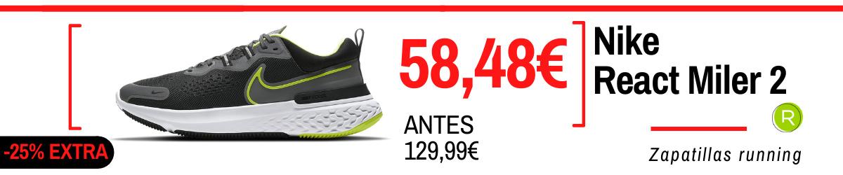 Rebajas de verano 2021 en zapatillas running - Nike React Miler 2