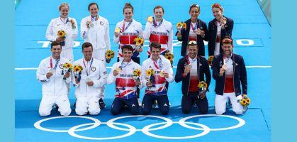 Triatlón relevos mixto JJOO TOKIO 2020 clasificación: Gran Bretaña, Estados Unidos y Francia se reparten las medallas