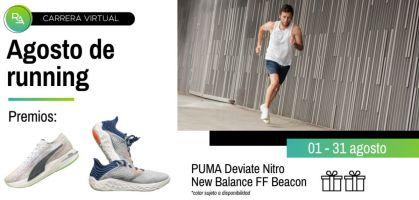 Carrera virtual: ¡Correr la 15k Agosto Running y llévate las Puma Deviate Nitro o New Balance FF Beacon v3!