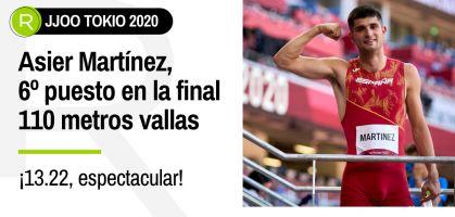 Tokio 2021, en directo: Asier Martínez, sexto clasificado en 110 metros vallas con mejor marca personal