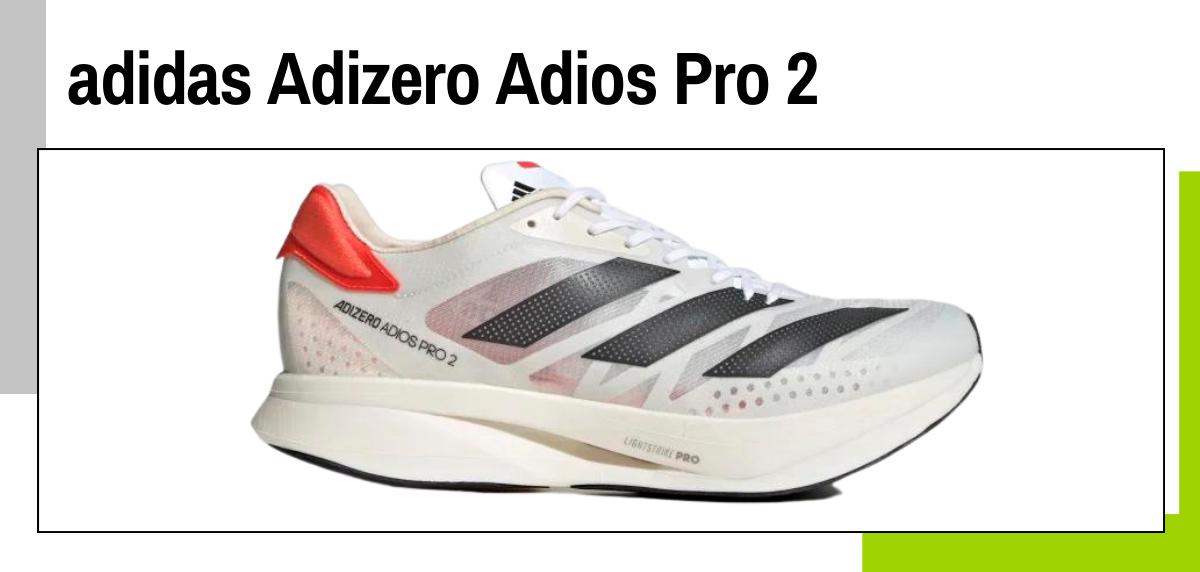 Mejores zapatillas running con placa de fibra de carbono - adidas Adizero Adios Pro 2