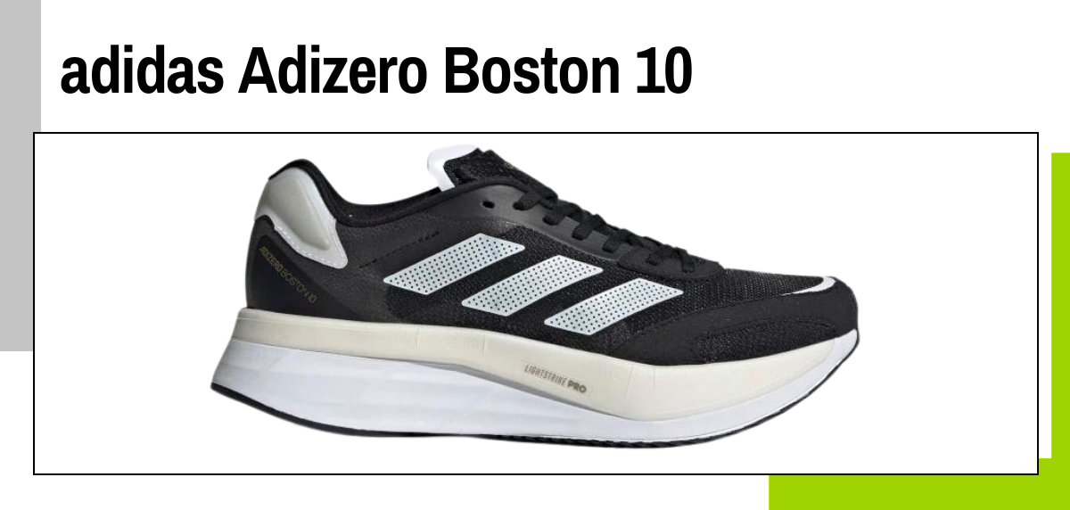 Mejores zapatillas running con placa de fibra de carbono - adidas Adizero Boston 10