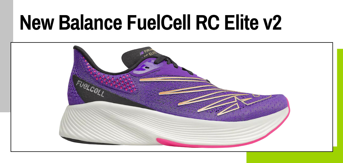 Mejores zapatillas running con placa de fibra de carbono - New Balance FuelCell RC Elite v2