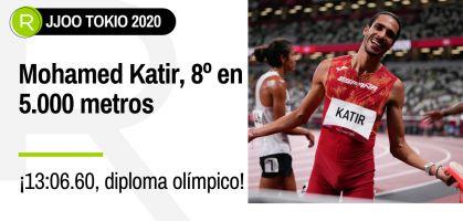 Mohamed Katir, octavo puesto y diploma olímpico en 5.000 metros lisos de Tokio 2020