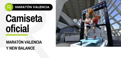 Original presentación de la camiseta oficial del Maratón de Valencia