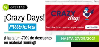 Crazy Days en Alltricks: ¡Hasta -70% de descuento en novedades running!