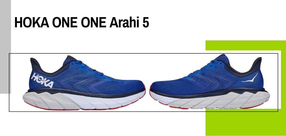 Mejores zapatillas running para correr con sobrepeso - HOKA ONE ONE Arahi 5