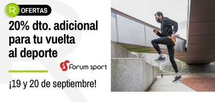 Ofertas Flash vuelta al deporte: 20% de descuento adicional en Forum Sport