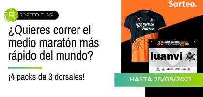Sorteo flash en Instagram: ¿Quieres participar en el medio maratón más rápido del mundo?