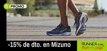 -15% de dto. en zapatillas running de Mizuno ¡sólo en Running ZGZ!