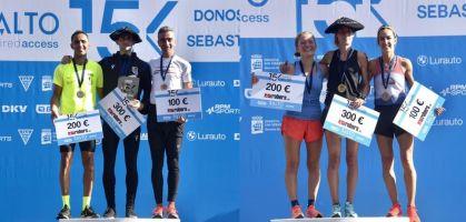 Aitor Etxeberria Mugica y Maite Arraiza Aramendia ganan la 15K Donostia San Sebastián 2021