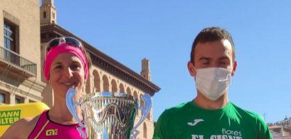 Alberto Puyuelo y Ana Revilla ganadores del Maratón de Zaragoza 2021