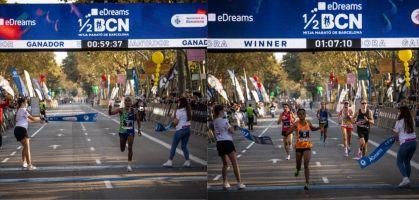 Haftu Teklu y Sandrafelis Tuei ganan la Media Maratón de Barcelona 2021