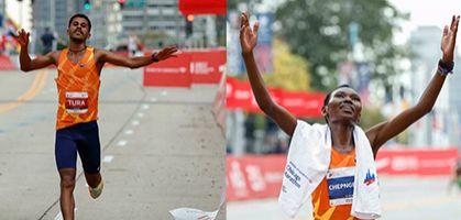 Seifu Tura y Ruth Chepngetich ganan el Maratón Chicago 2021