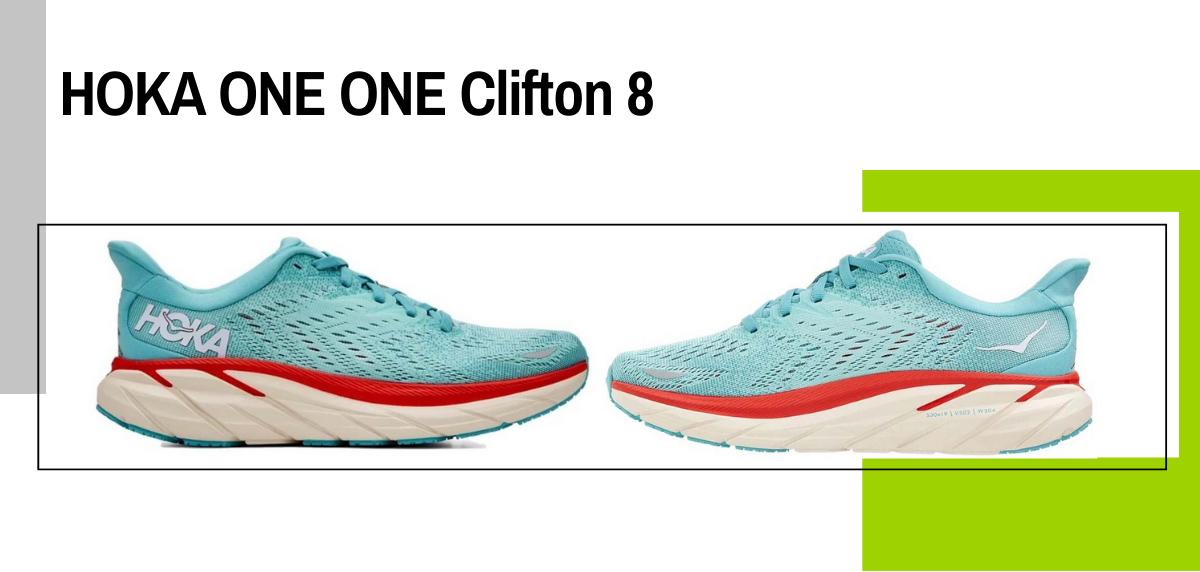 Mejores zapatillas para evitar la fascitis plantar - HOKA ONE ONE Clifton 8