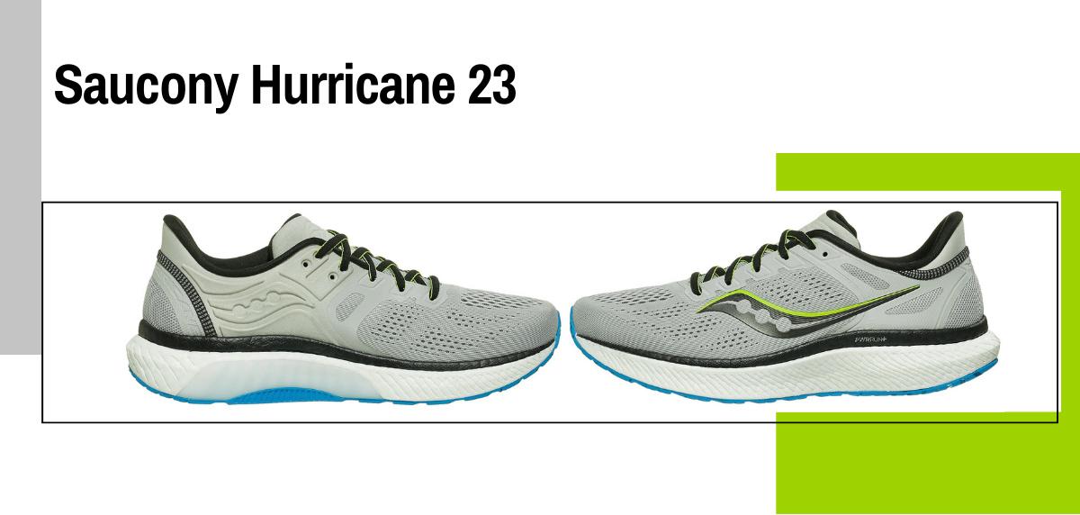 Mejores zapatillas running para evitar la fascitis plantar - Saucony Hurricane 23