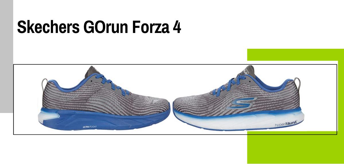 Mejores zapatillas running para evitar la fascitis plantar - Skechers GOrun Forza 4