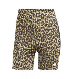 Mallas Short Fitness_mujer_adidas Designed To Move Aeroready Leopard Print L Marrón