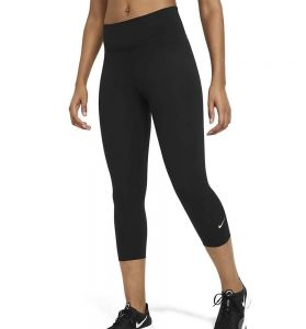 Mallas 3/4 Fitness_mujer_nike One L Negro