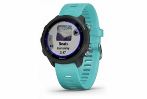 Garmin Forerunner 245 Music GPS Watch Black With Teal Coloured Band
