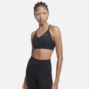 Nike Dri-FIT Indy Sujetador deportivo de sujeción ligera con acolchado y cuello en V - Mujer - Negro