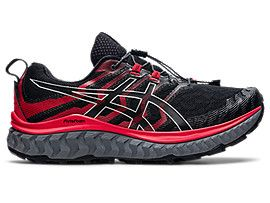 ASICS Trabuco Max Black / Electric Red Hombre