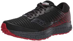 Saucony Guide 13 TR Zapatillas para Correr sobre Camino de Tierra o Montaña con Soporte Neutral para Hombre Negro Rojo