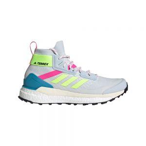 Adidas Zapatillas Senderismo Terrex Free Hiker Primeblue Halo Blue / Hi-Res Yellow / Screaming Pink